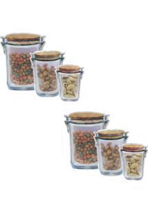 Kit Com 3 Sacos Pote Hermético Zip Para Alimentos Ecobag 2 Unidades