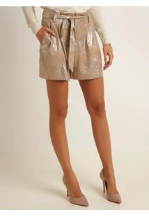Shorts Le Lis Blanc Clochard Maria Dourado Feminino (Dourado, 44)