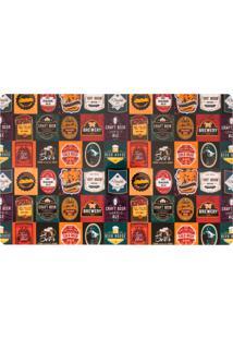 Jogo Americano Copa&Cia Pvc Print Beer Stamps