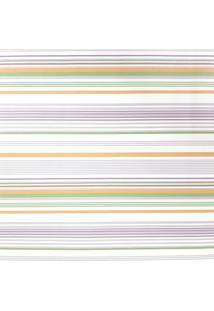 Kit 4 Rolos Papel De Parede Fwb Listras Laranja Verde Lilás E Branco - Tricae