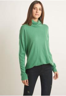 Blusa Le Lis Blanc Lis Xii Tricot Verde Feminina (Green, G)