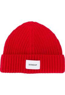 Dondup Gorro Com Patch De Logo - Vermelho
