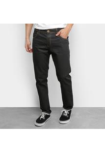 Calça Jeans Slim Ecxo Masculina - Masculino-Preto