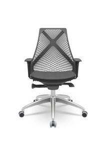 Cadeira Office Bix Presidente Base Piramidal Assento Preto 100Cm - 62706 Sun House