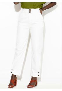 Calça Sarja Comfort Off White
