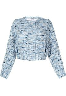 Iro Button-Front Knitted Jacket - Azul