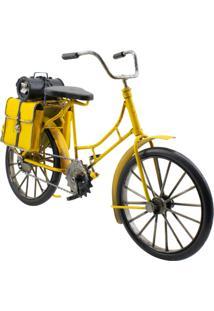 Enfeite Decorativo Minas De Presentes Bicicleta Amarelo - Kanui