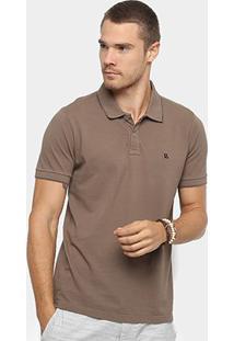 Camisa Polo Básica Foxton Masculina - Masculino-Cáqui
