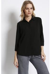 Camisa Texturizada- Preta- Intensintens