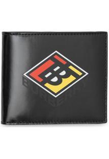 Burberry Carteira De Canvas Com Logo Gráfico - Preto