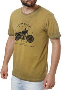 Camiseta Manga Curta Masculina Full Amarelo