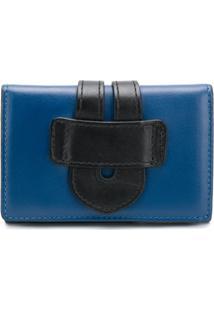 Tila March Carteira De Couro - Azul