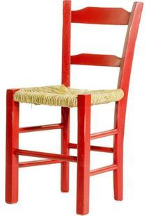 Cadeira Lagiana Pequena Eucalipto Vermelho Palha - 31279 Sun House