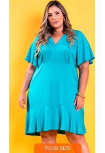 Vestido Lily Babado Azul