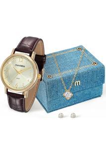 Kit Relógio Feminino Mondaine 83281Lpmvdh1Kb