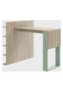 Mesa C/ Painel Mutiuso Aveiro/Verde Be Mobiliário