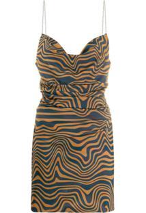 Maisie Wilen Vestido Com Animal Print Alça De Corrente - Azul