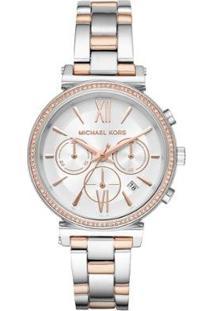 Relógio Michael Kors Essential Sofie Bicolor Feminino - Feminino-Bronze