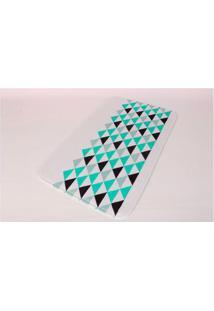 Tapete Triângulos 13X8,2Cm Poliester Azul Etna Coisas E Coisinhas