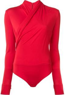 Versace Body Com Transpasse - Vermelho