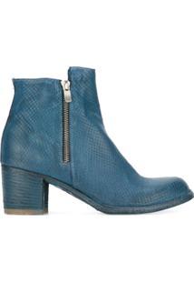 Officine Creative Ankle Boot De Couro 'Varda' - Azul