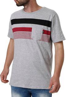 Camiseta Manga Curta Masculina No Stress Cinza