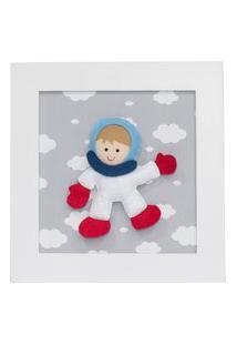 Quadro Decorativo Astronauta Quarto Bebê Infantil Menina Menino
