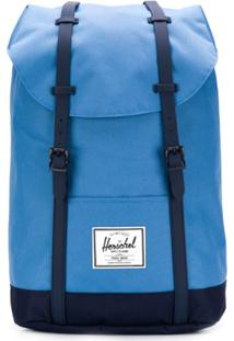 Herschel Supply Co. Mochila Retreat Com Contraste - Azul