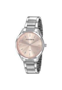 Kit Relógio Feminino Mondaine 53817L0Mvne3Kb Analógico 5Atm + Pulseira | Mondaine | Rosa | U