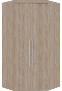 Guarda-Roupa Canto Closet Virtual 2 Portas S/Espelho Com Gavetas Cedro Robel - Marrom - Dafiti
