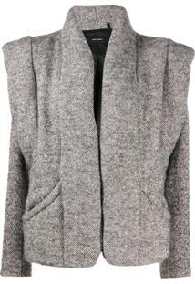 Isabel Marant Oversized Padded Jacket - Cinza