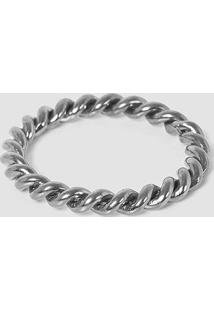 Bracelete Torcido - Prata - Un