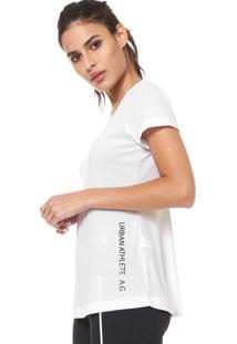 Camiseta Alto Giro Recorte Costas Branca