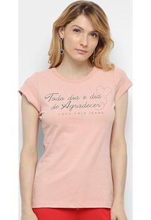 Camiseta Coca-Cola Dia De Agradecer Feminina - Feminino-Rosa Claro+Pink