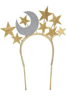 Tiara Lua Com Estrela Aroeira Abe - Dourado