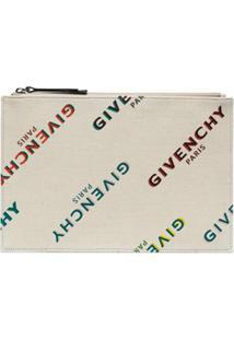 Givenchy Clutch Com Estampa De Logo Arco-Íris - Neutro