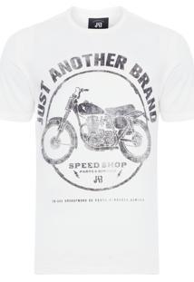 Camiseta Masculina Motocicleta Just Another - Off White