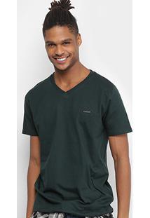 Camiseta Colcci Gola V Básica Masculina - Masculino