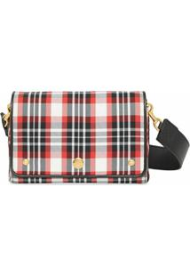 Burberry Small Tartan-Pattern Crossbody Bag - Vermelho