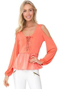 Camisa Lucy In The Sky Amarracao Coral