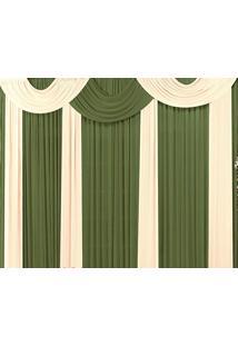 Cortina Casa Conforto Marrocos 4M - Verde Taipa