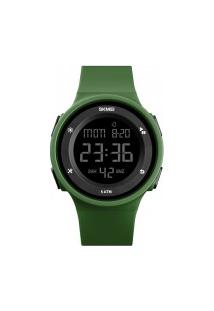 Relógio Skmei Women -1445- Preto E Verde