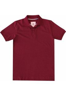 Camisa Pau A Pique Polo - Masculino-Bordô
