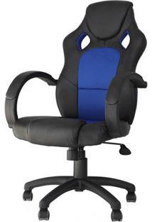 Cadeira Office Racer Preta E Azul - 27712 - Sun House