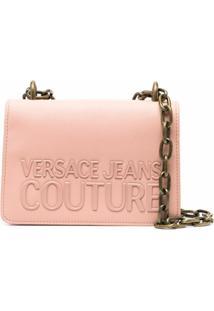 Versace Jeans Couture Bolsa Transversal Com Estampa De Logo - Rosa