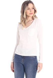 T-Shirts Daniela Cristina Gola V Profundo 30 10266 1 Un Branco - Branco - Pp