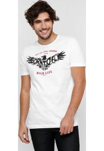 Camiseta Sommer Estampa Águia - Masculino-Branco