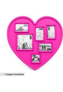Painel De Fotos Coração- Pink- 30X30X2Cmludi