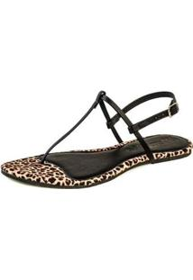 Rasteira Flat Mercedita Shoes Feminina - Feminino-Marrom