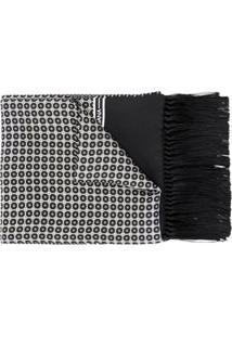 Dolce & Gabbana Echarpe De Seda Com Estampa Geométrica - Preto